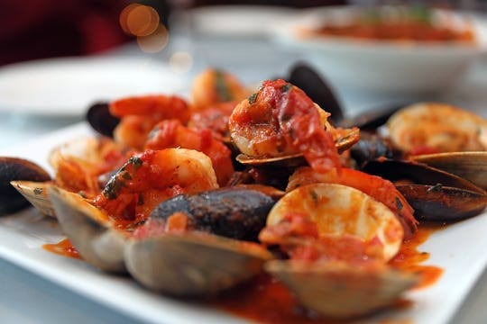 Shrimp Fra Diavolo, shrimp, clams and mussels at Giovanni's Restaurant in Yonkers owned by Bruno and Dona Ukaj.