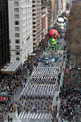 Western Carolina University Marching Band performs in the 2019 Macy's Thanksgiving Day Parade.