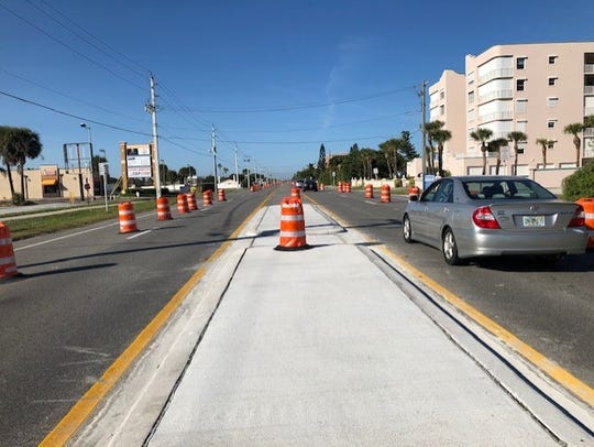 Drivers in Indialantic have had to contend with hundreds of orange traffic barrels on A1A due to roadwork.