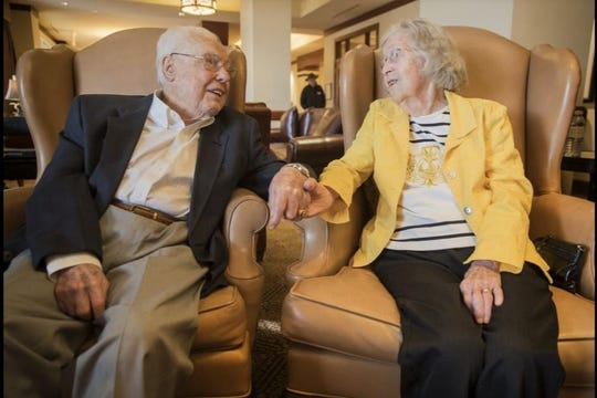 John and Charlotte Henderson are the oldest living couple on the planet, according to the Guinness World Records. The Austin couple has a combined age of 211.