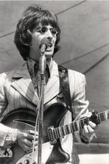 AUGUST 21, 1966: George Harrison and The Beatles performed in concert at Crosley Field.