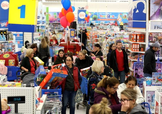 The Windsor Toys R Us was teeming with shoppers on Black Friday