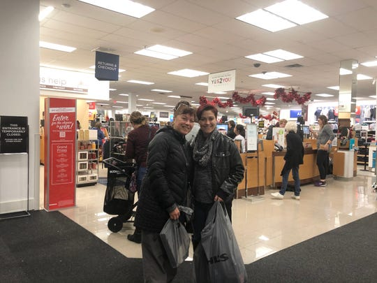 Elizabeth Kladis of Troy and daughter Aliki Hall of Knoxville, Tennessee, shop at Kohl's on Friday.