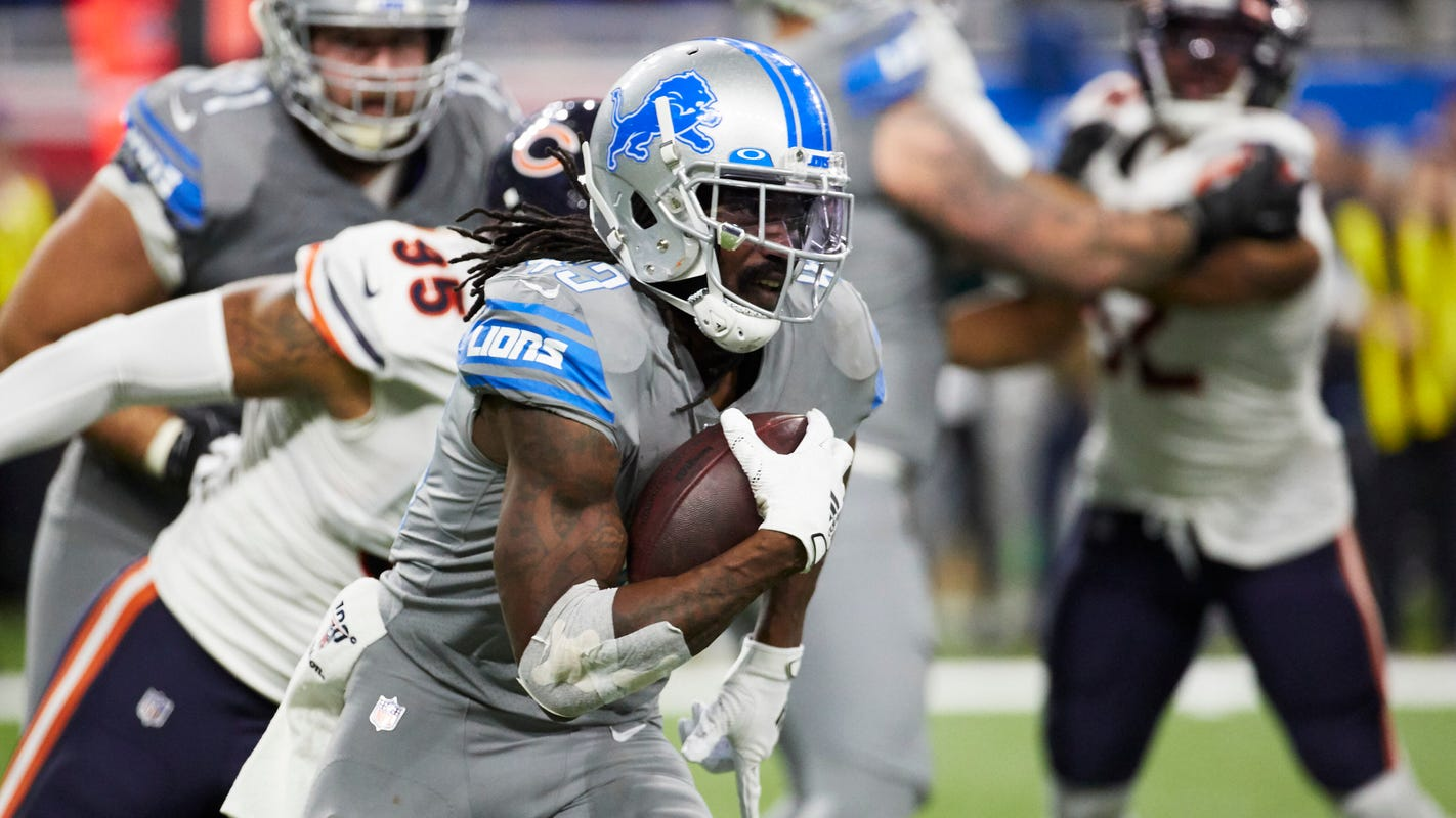 Ex-rivals Kerryon Johnson, Bo Scarbrough seek to form dominant backfield for Lions