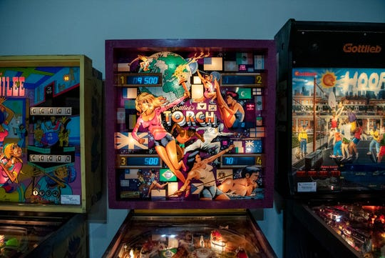 Terry Groves' Playable Pinball Museum is pictured inside McCamly Place.