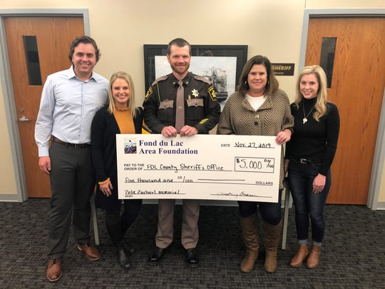 The family of Peter Zacherl donated $5,000 to the Fond du Lac County Sheriff's Office to install ice rescue kits in each of the office's squad cars. Zacherl died in January 2019 after falling through the ice on Lake Winnebago.