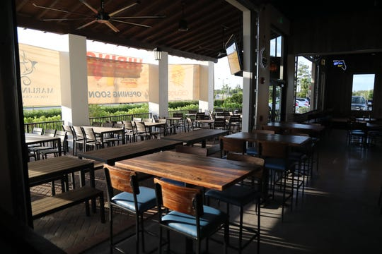 Marlins Brewhouse has an open-air patio at University Village in Estero.