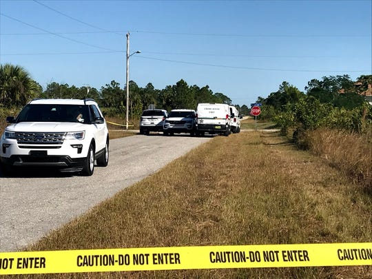 Lee County Sheriff's Office and Crime Scene Unit at Monroe Avenue and East 5th Street in Lehigh Acres investigating an incident on Nov. 29, 2019.