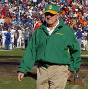John McKissick, shown in 2007, won 621 games in 62 seasons as coach at Summerville High School. McKissick died Thursday at age 93.