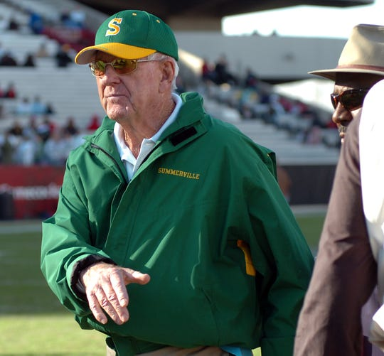 John McKissick, who won a national-record 621 games in 62 seasons as coach at Summerville High School, died Thursday at age 93. McKissick is shown during the 2007 season.