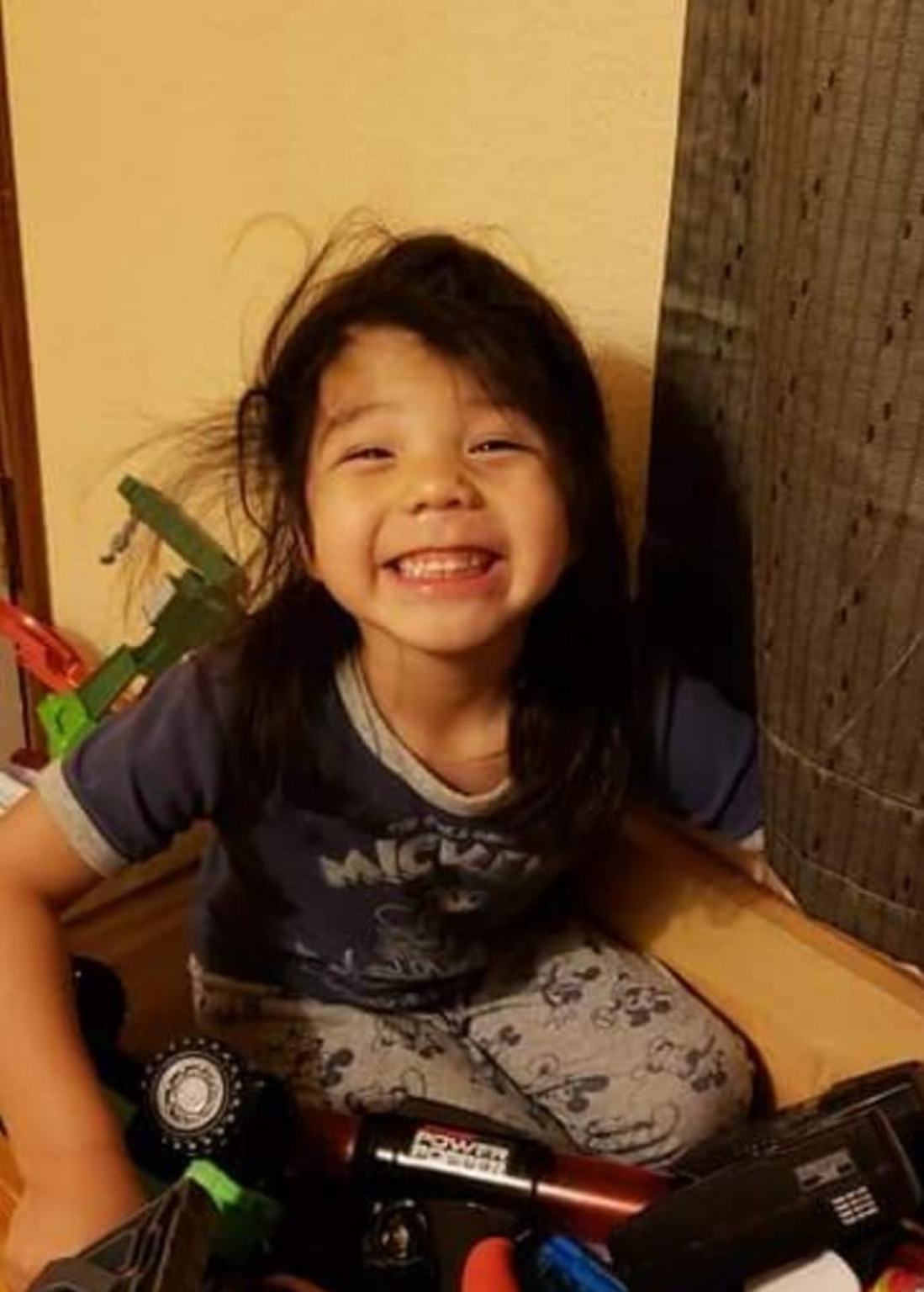 This photograph of Tony Renova was taken by his foster family in February 2019, on the day his biological parents took full custody of the five-year-old.