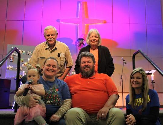 Tony Renova' foster family. Top row; grandparents Al Cotton and Carol Foster. Bottom row; Amelia Foster, Christy Foster, Jeff Foster and aunt, Jamie Smith-Schollian