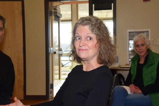 WordPlayer member Jeni Lamm gets the ball rolling with a story of her own at Karns Senior Center Thursday, Nov. 21.
