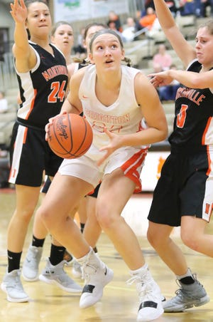 Center Sophie Dziekan leads a Brighton basketball team which has high expectations after winning a district championship.