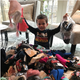Sam Donohue, 5, started a sock drive for needy kids that ended up with more than 600 donated pairs.