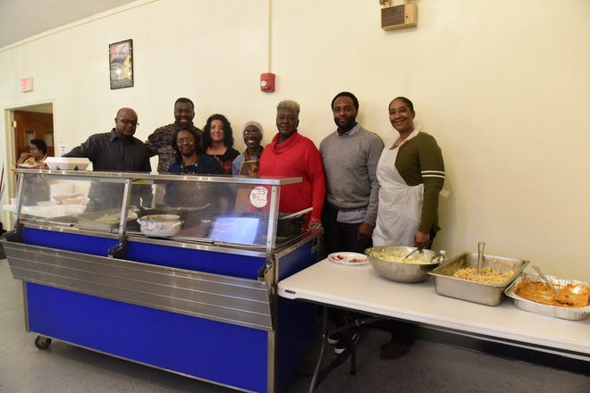 Congregants of the Providence Baptist Church in Mansfield served more than 100 meals on Thanksgiving Day.