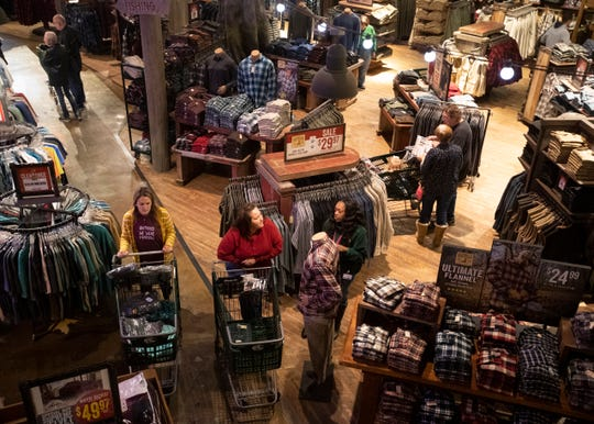 Bass Pro Shops at the Pyramid  shoppers inside the retail store at 5 a.m. for early Black Friday sales in Memphis, Tenn., on Friday, Nov. 29 2019.