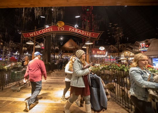 Bass Pro Shops at the Pyramid  shoppers head toward the register to check out after shopping for the early Black Friday sales in Memphis, Tenn., on Friday, Nov. 29 2019.
