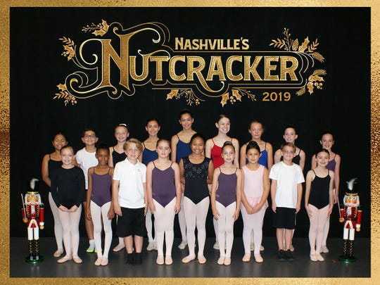 """Twenty-two young dancers from Sumner County will take the stage in Nashville's Nutcracker running Dec. 7–23 at TPAC's Jackson Hall. The dancers are (front row, from left): Abigail Mantor of Robertson County, Rylee Braden, Asher Lekki of Davidson County, Madeline Jones, Cyleene Demasana, Olivia McDaniel, Sofia Jenson, Camden Henderson, and Sofia Dominguez of Williamson County; (back row) Cyra Demasana, Eric Jenson, Samantha Tyree, Mariana Dominguez of Williamson County, Madelyne Vanhemert, Georgia Bryant, Anabel Betterton, Madison Herrington, and Sophia Wright; (not pictured) Sarah Curtis, Adrianna """"AJ"""" Gift, Lily Johnson, Beckett Reynolds, Griffin Reynolds, Jayna Ritchie, Ava Tarrence, Caroline Thomas or Davidson County, Elizabeth """"Lizzie"""" Tongate, and Mason Underwood."""