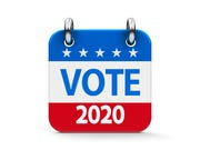 Vote election 2020 calendar icon.