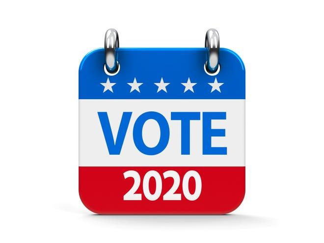Vote election 2020 calendar icon.