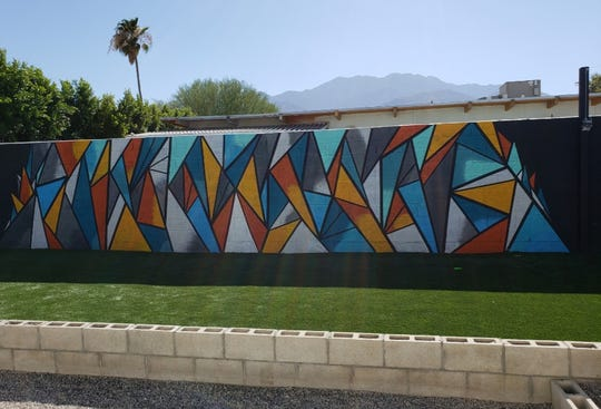 "A mural painted by Cody Silva (Codezart). There's been a couple of walls that are knock offs of what I've done,"" Silvia said. ""There's been some people to pick up where I couldn't get a job and they'll hire somebody that can do similar work. It is what it is, but it's complimentary. The Westfield Palm Desert has a wall that someone came around and did something similar. """