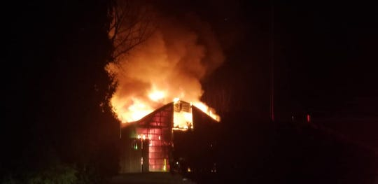 Ten animals were reported dead in a barn fire that started early Thanksgiving evening at African Safari Wildlife Park.