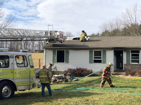 North Hopewell Winterstown Volunteer Fire Co. and assisting crews respond to a fire on Friday, Nov. 29. The Hopewell Township home sustained an estimated $50,000 to $75,000 in damages for a fire contained in a bathroom and bedroom.