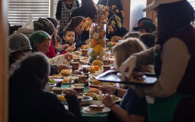 Last Year S Thanksgiving Dinner At Dorothy S Kitchen In Salinas