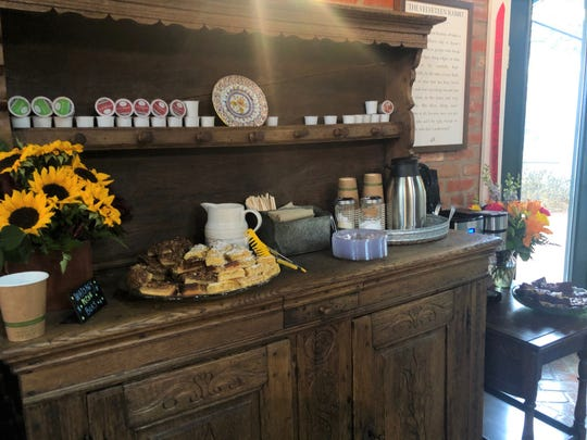 Coffee and snack bar in full effect at Old Town Books, 506 S. Chadbourne St.