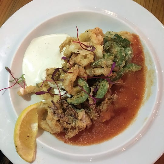 A calamari appetizer at Zuzul Coastal Cuisine, a new seafood restaurant in Shreveport.