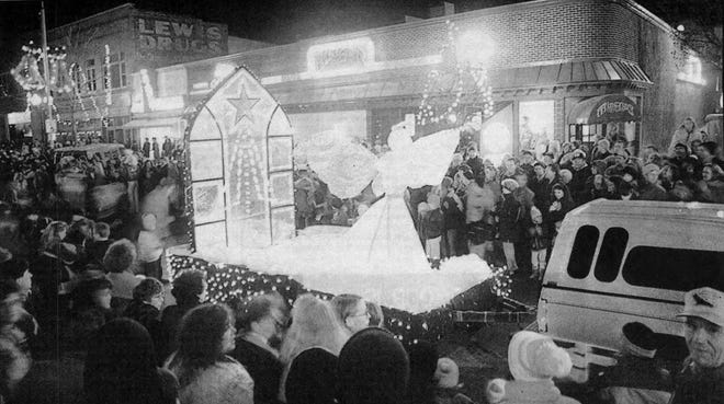 The Sioux Falls Parade of Lights is shown in 1992.