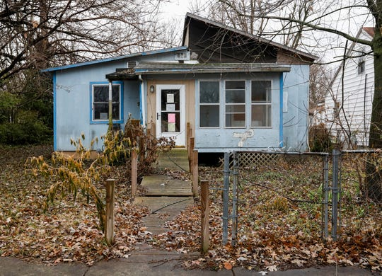 This home at 1416 W. Thoman St., has been declared a dangerous building by the city of Springfield.