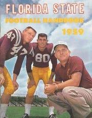 FSU handbook, Fred Pickard, left, Tony Romeo and Perry Moss