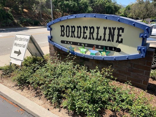 The sign outside the Borderline Bar and Grill.