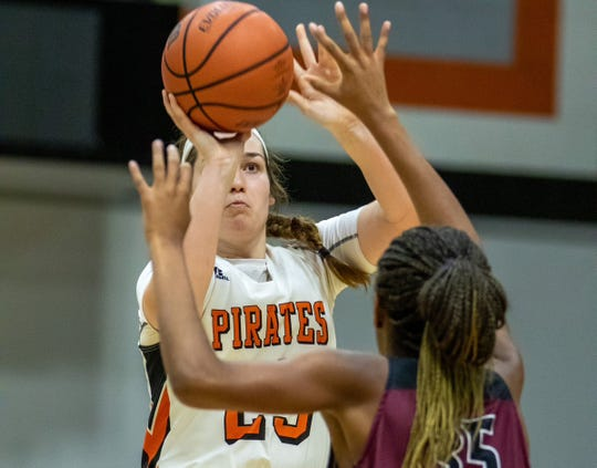 Tournament MVP Madison Kast lead the Ventura College women's basketball team to the VC-Kiwanis Tournament of Champions title on Nov. 23 in Ventua.