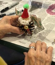 This whimsical elf was created by a resident of the New Jersey Veterans Memorial Home in Vineland during a visit by the horticulture enrichment team of the Rutgers Master Gardeners of Cumberland County.