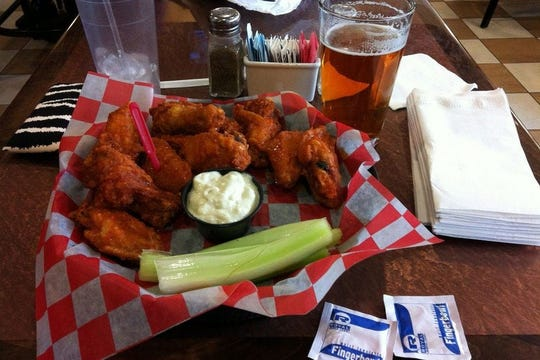 Buffalo wings are everywhere in Buffalo, New York, even the Anchor Bar at the Buffalo-Niagra Airport.