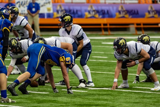 Scenes from the Class C state championship game at the Carrier Dome on Friday. Susquehanna Valley completed its second straight 13-0 season by blanking Gouverneur, 22-0..
