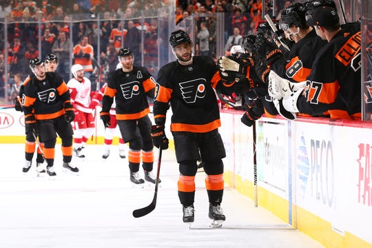 The Flyers defenseman returned from a three-game benching to score his second goal of the season.