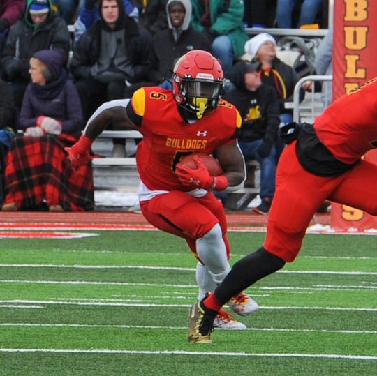 Marvin Campbell had three touchdown runs in Ferris State's 37-10 victory over Central Missouri Saturday in a Division II playoff game.