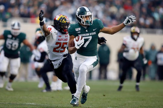 Cody White caught 143 passes for 1,967 yards in 12 TDs in his three years at Michigan State.