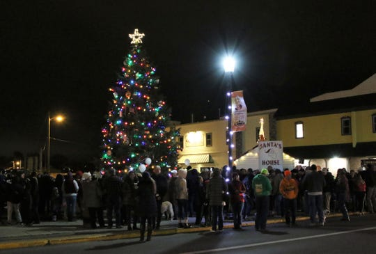 Downtown Fremont celebrates the Annual Christmas Tree Lighting ceremony, which included a visit from Santa Claus.