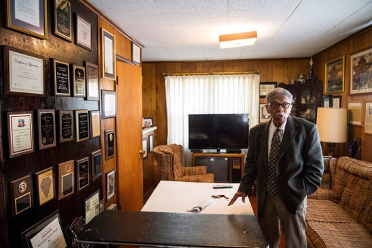 Retired S.C. Sen. Ralph Anderson, 89, talks about some of his accomplishments while in public office in his home on Wednesday, May 17, 2017.