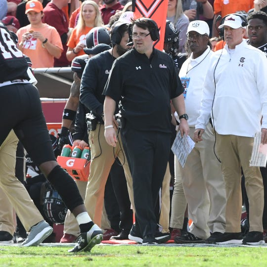 South Carolina Head Coach Will Muschamp during the first quarter at Williams-Brice Stadium in Columbia, South Carolina Saturday, November 30, 2019.