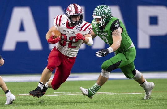 Charlie Spegal of New Palestine set several state rushing records.