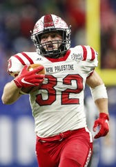 New Palestine Dragons running back Charlie Spegal was named Gatorade Indiana Football Player of the Year.