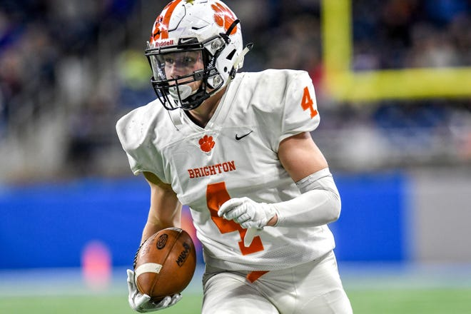 Nick Nemecek of Brighton ran 12 times for 105 yards and a touchdown in a 24-14 loss to Northville.