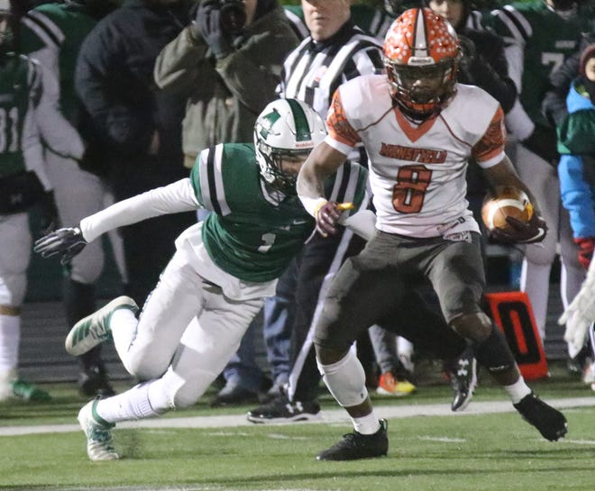 Mansfield Senior's Angelo Grose was named the Division III Defensive Player of the Year in Ohio.