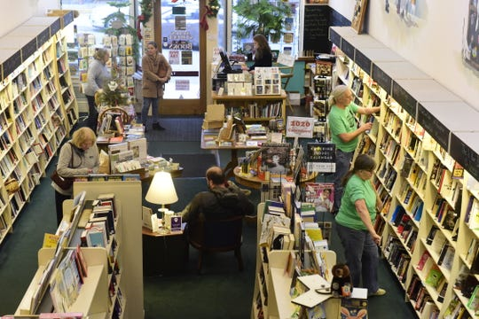 "Main Street Books was bustling during ""Small Business Saturday."""